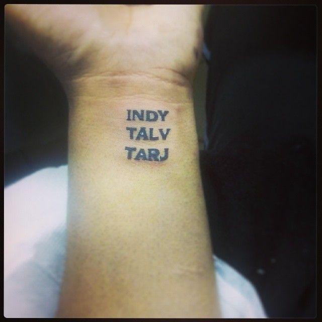 64763a569 #tattoo #name #font #indy #talv #tarj #london #daughter #son #twins #hand  #wrist #punjabi #love #family #munde #kudia #phagwara #punjab #desi #london  #jatt