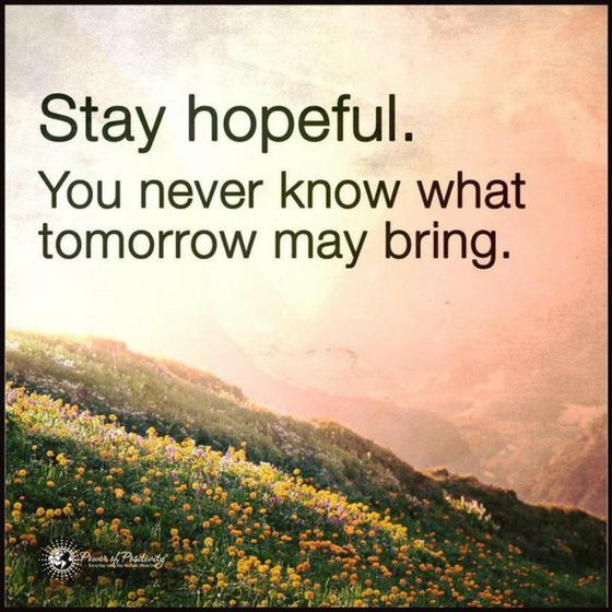 Motivational Inspirational Quotes: Inspirational Quotes Stay Hopeful. You Never Know What