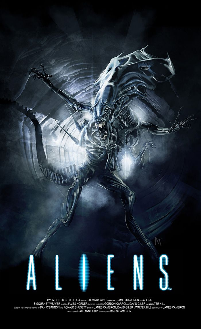 Aliens by Angel Trancon Arts - Home of the Alternative Movie Poster -AMP- |  Aliens movie, Movie posters, Alien