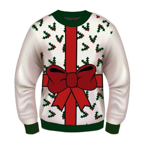 forum novelties adult all wrapped up white ugly christmas sweater multi large forum novelties