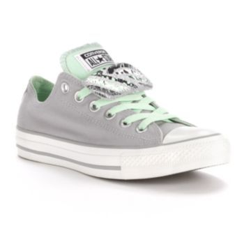 converse grey all star peached canvas ox trainers
