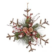 Rattan Snowflake Door Hanger #hangersnowflake