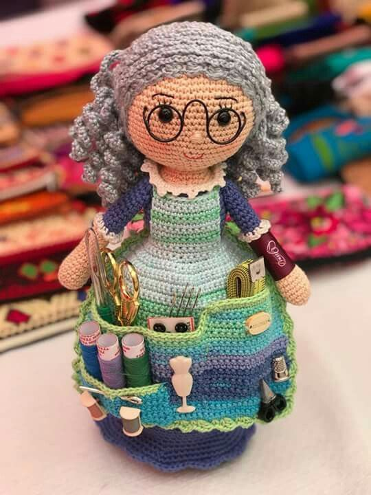 Crafter Doll Organizer Free Crochet Pattern Crochet