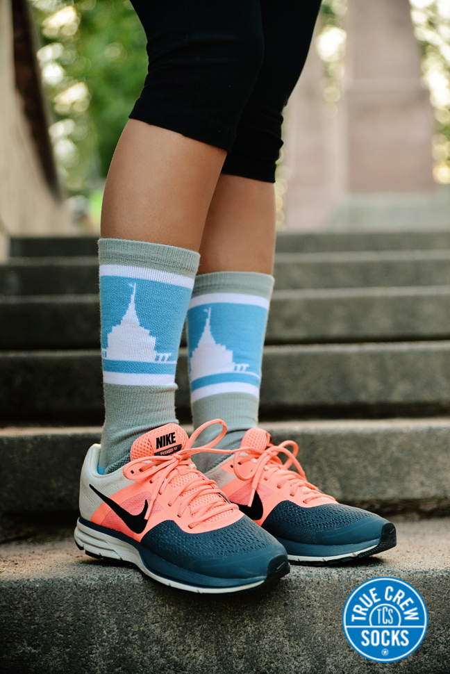 Rexburg LDS Temple Socks, one of our best sellers!