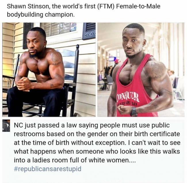 Bathroom Model Meme ftm transgender bodybuilder shawn stinson speaks out on anti-trans