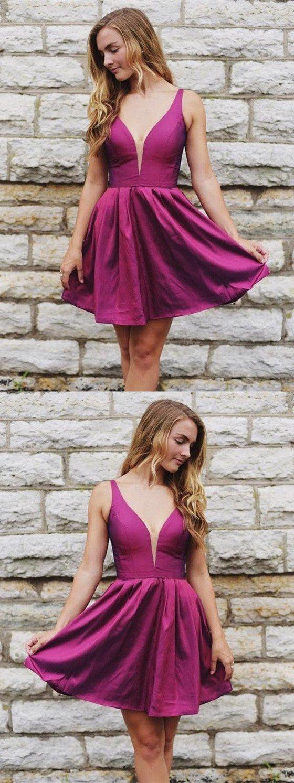 Hot selling simple vneck cheap sleeveless short homecoming dresses
