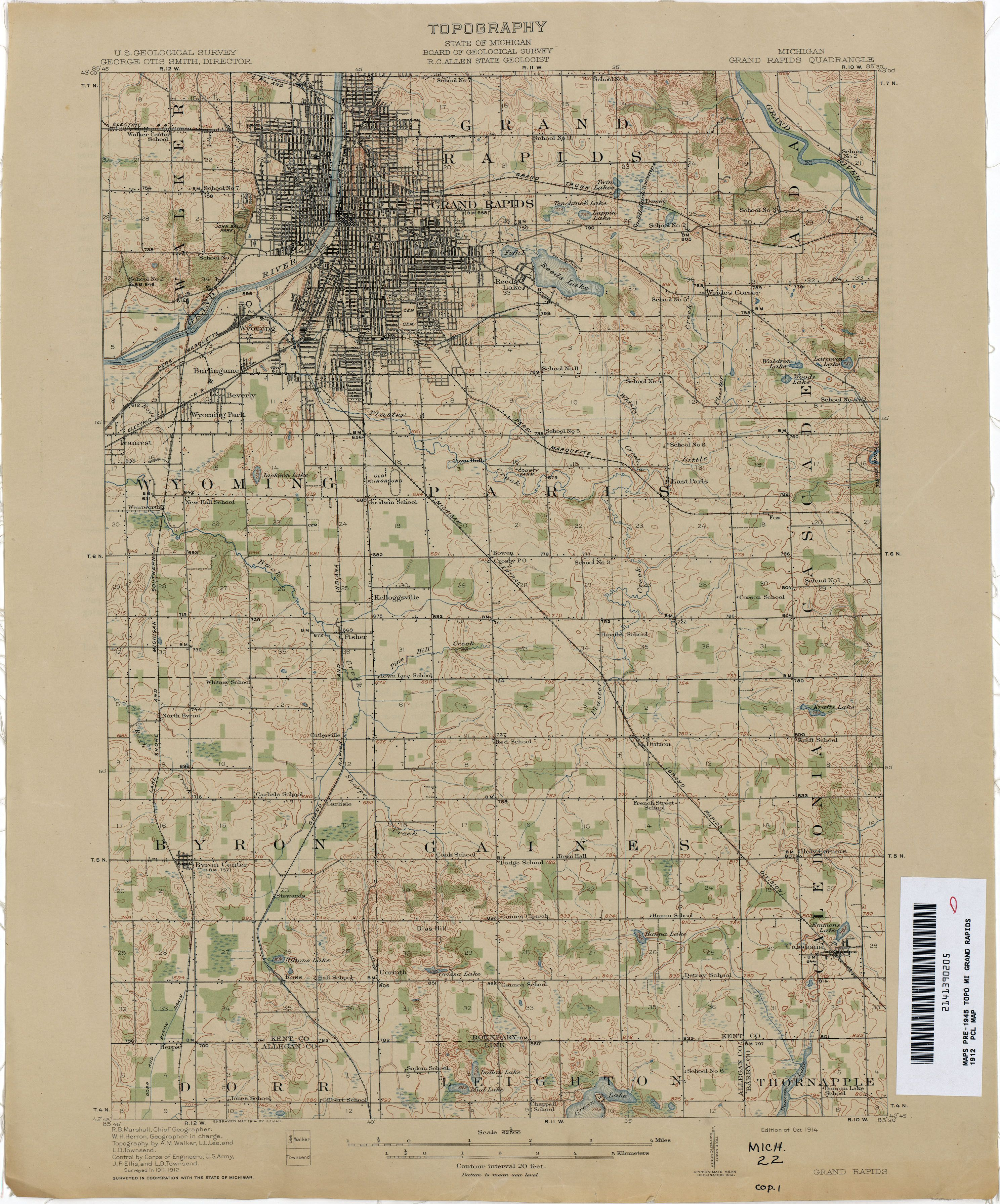 vintage grand rapids map Vintage Michigan