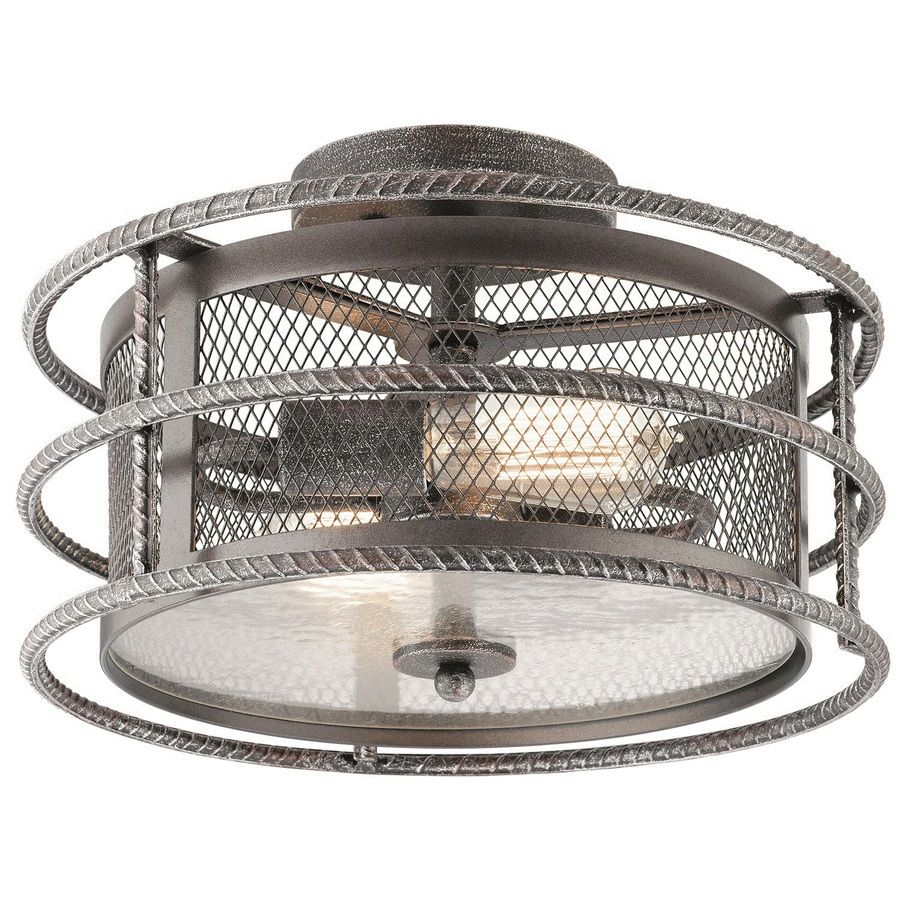 Shop Kichler Lighting Ramida 14.33-in W Antique Steel Metal Semi ...
