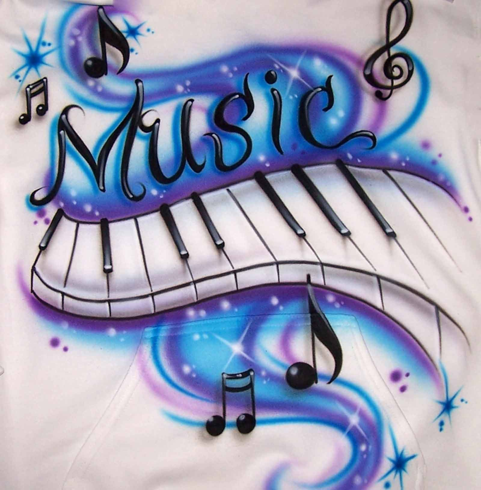 Graffiti Music Notes Ar