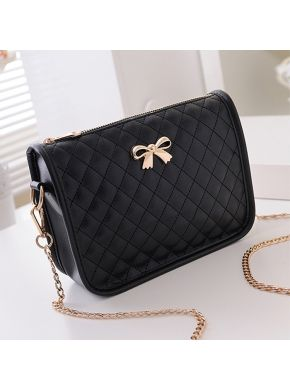 66da4327c555 Synthetic Leather Casual Bow Cross Body Bag