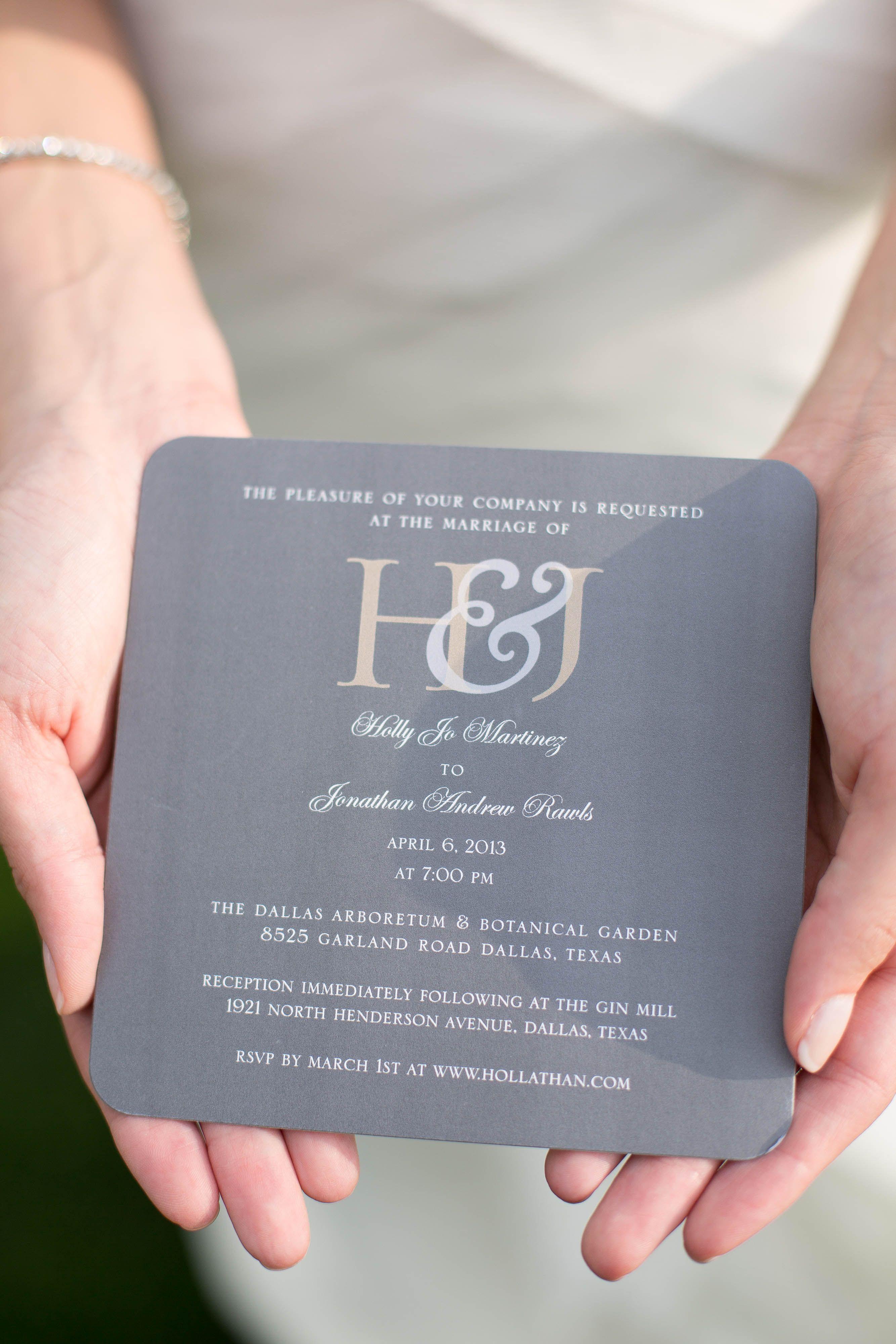 Gray Gold Monogrammed Wedding Invitations Wedding Pinterest