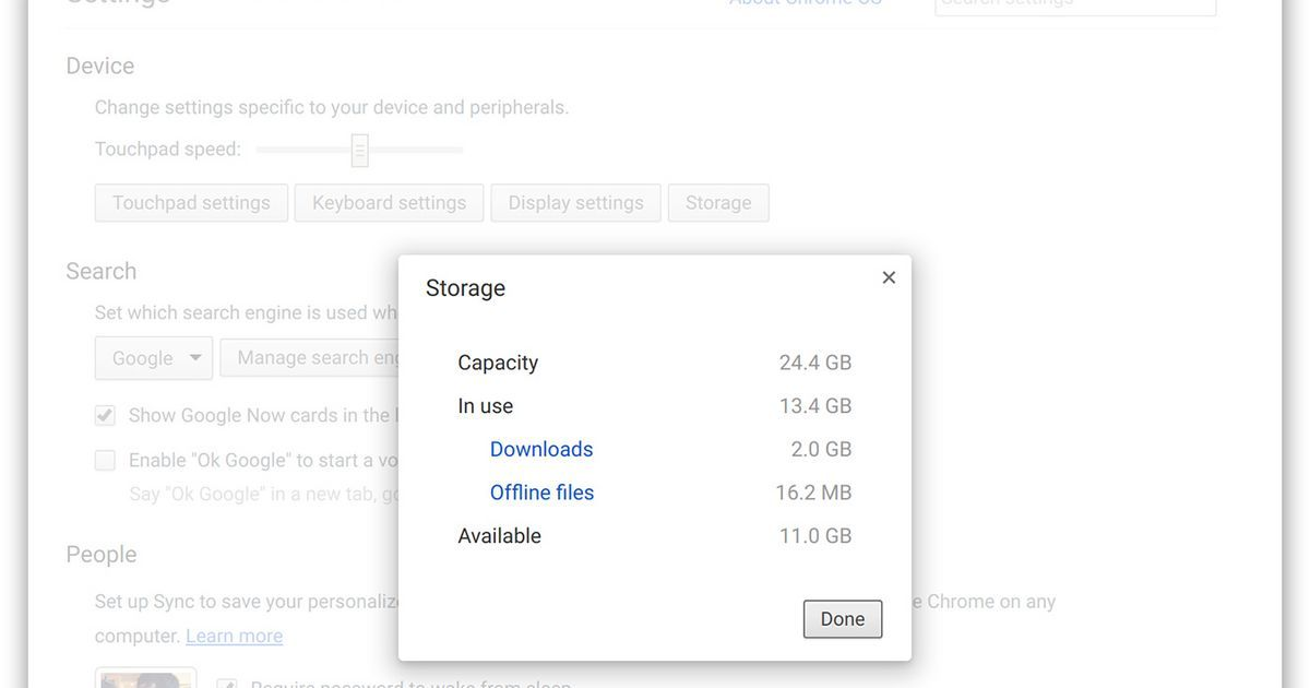 Security Check Required Management Storage Change Settings