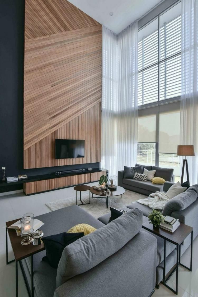 100 Elegant Contemporary Living Room Decor Ideas Dengan Gambar