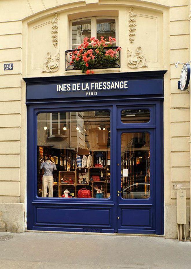 les adresses d 39 ines de la fressange paris store fronts france and shopping. Black Bedroom Furniture Sets. Home Design Ideas