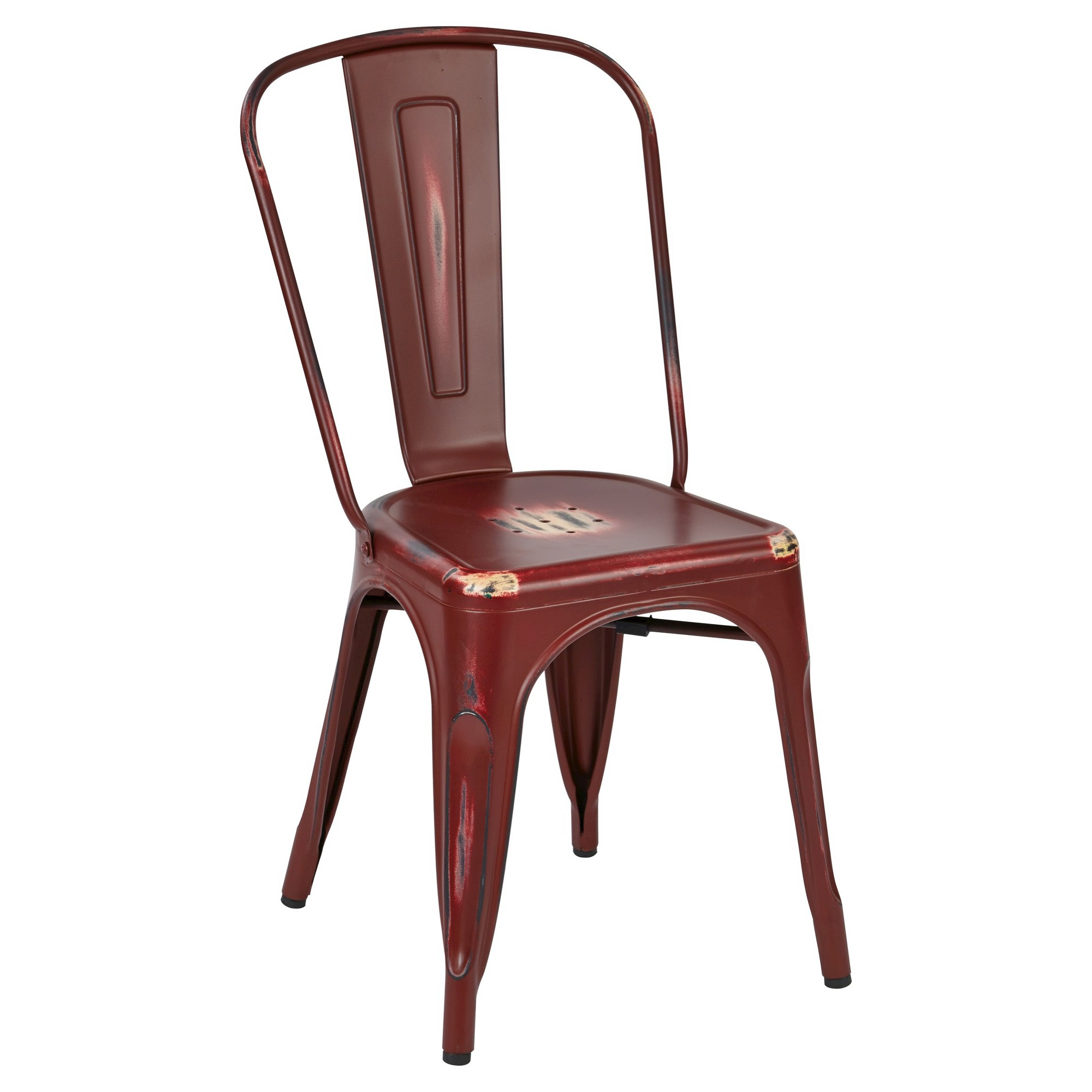 Osp Designs Bristow Armless Chair - Antique Red (Set of 2 ...