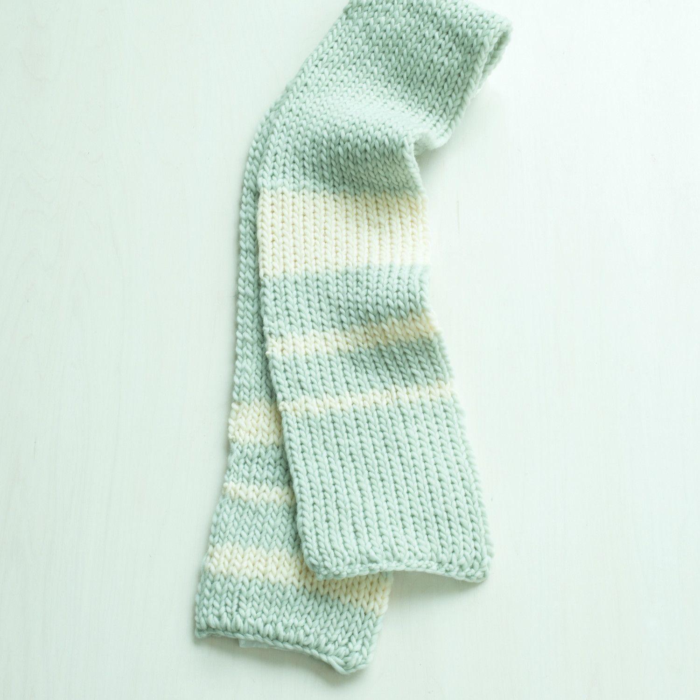Crafts Lion Brand® Yarn Roving Wool Loom Double-Knit Rib Scarf