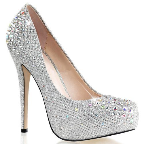 70c832a65f888e Strass Plateau Pumps Damen Silber (silber) - rocket-league-community.de