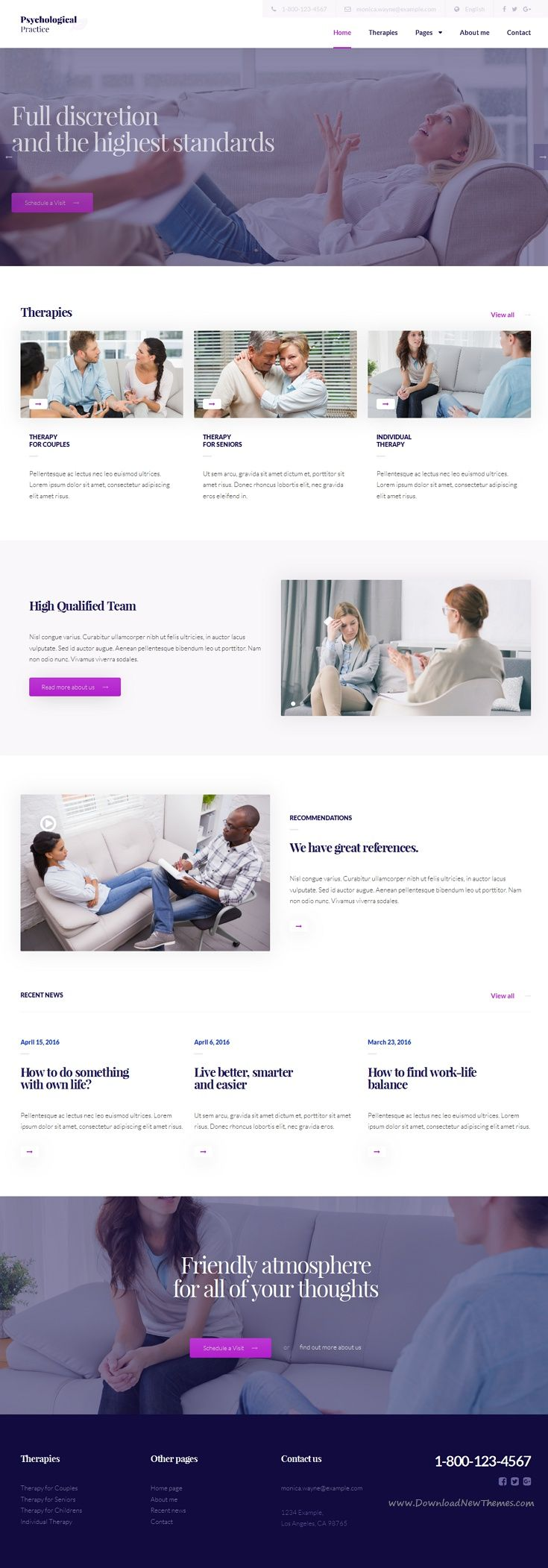 Psychology - HTML5 template for Psychological Practice | Pinterest ...