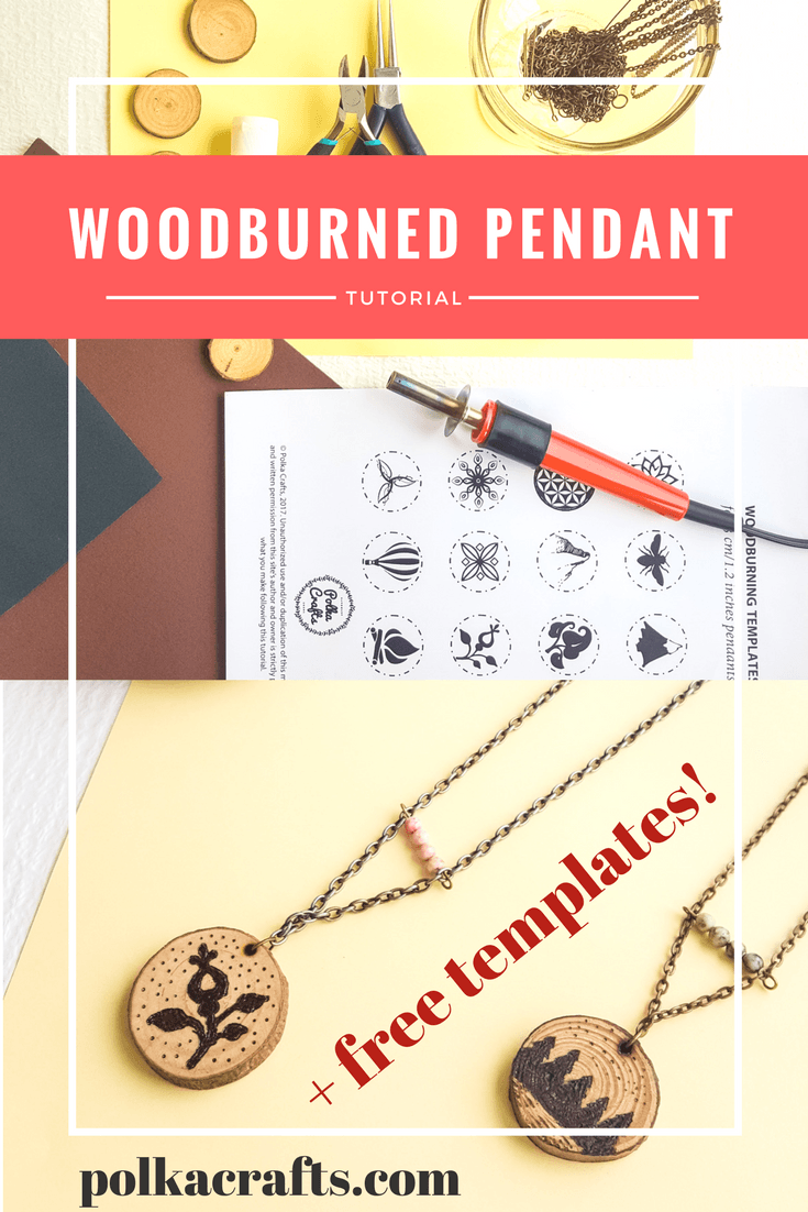 Make A Wood Burned Pendant With Premade Templates Polka Crafts