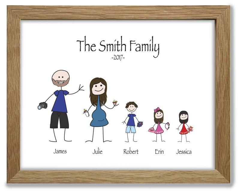 24+ Personalised stick family print ideas