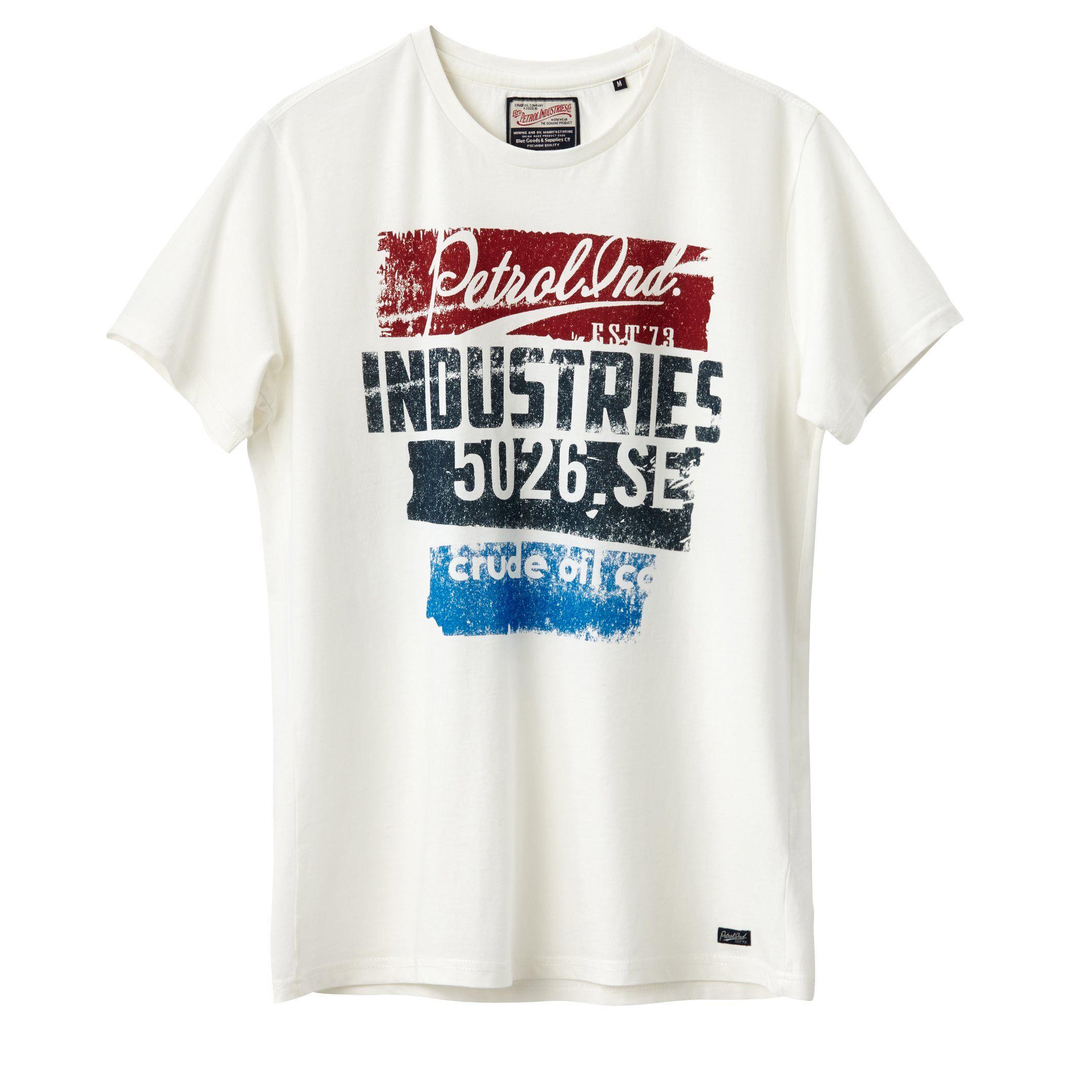 varios tipos de excepcional gama de estilos y colores 2019 original Camiseta con motivo estampado blanco Petrol Industries | La ...