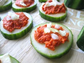 Hapjes met komkommer #koudehapjes