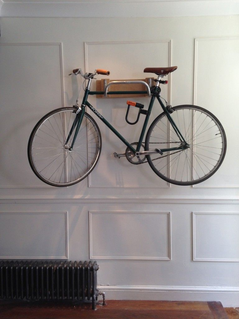 Look jeremy s bicycle rack apartment therapy - Bike Rack For Hallway By The Great Interior Design Challenge Upcycle Recycle Reuse