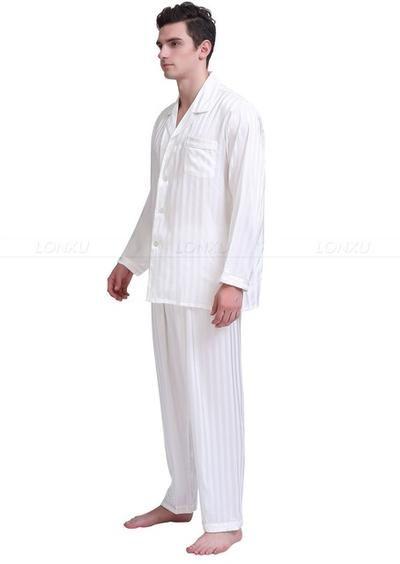 13e709c154 Mens Silk Satin Pajamas Set Pajama Pyjamas Set PJS Sleepwear Set ...