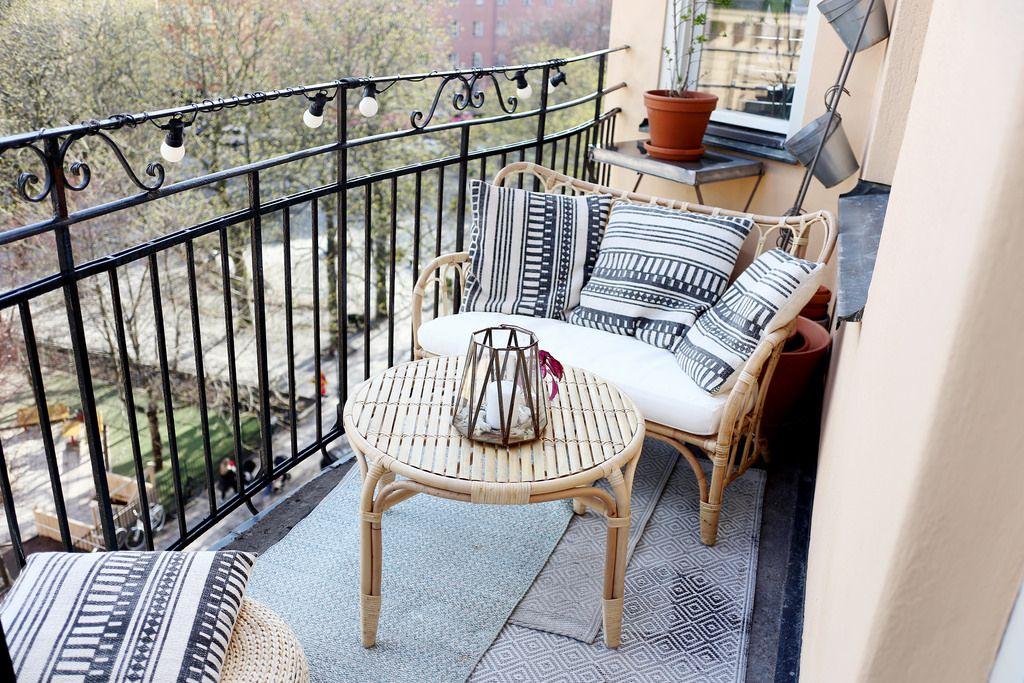 Balcony Liten Balkong Balkong Inredning Uteplats Inredning
