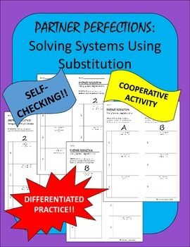 Systems of Equations Using Substitution Differentiated Self