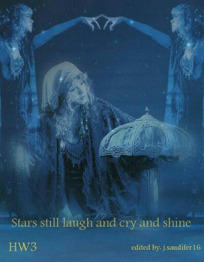 My Stevie Nicks Blue Lamp Photo Edit