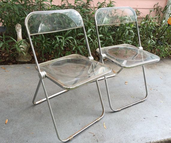 Perfect TWO PLIA LUCITE Chairs Folding Chairs Pair By Plia Castelli Of Italy Mid  Century Modern At Modern Logic