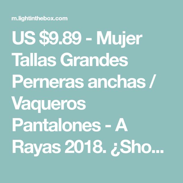 5c0609056b US  9.89 - Mujer Tallas Grandes Perneras anchas   Vaqueros Pantalones - A  Rayas 2018.