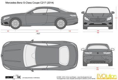 Mercedes Benz S Class Coupe C217 Chertezhi