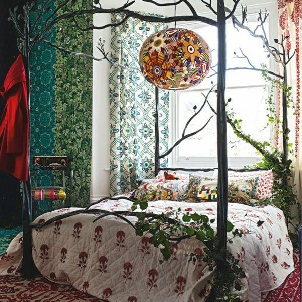 Schlafzimmer Natur Zu Hause Bettrahmen Pfosten Himmel