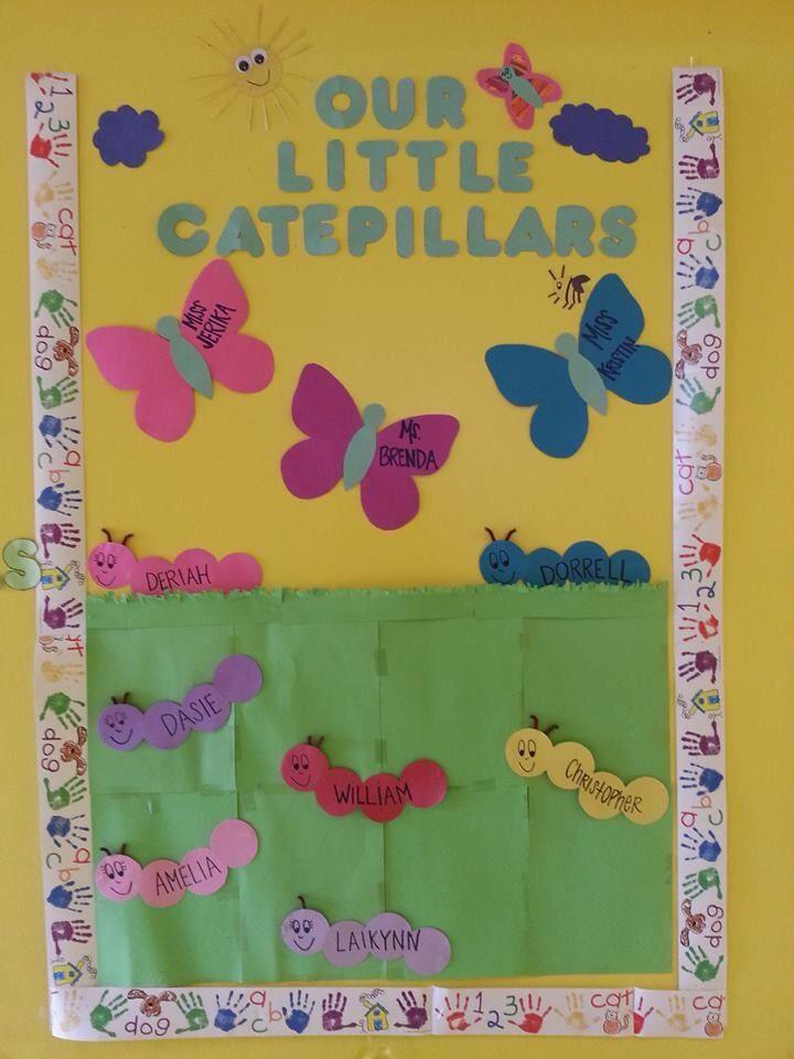 Bulletin board idea I did for my infant room class ...