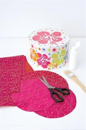 Decorative Round Boxes How To Cover A Round Hat Box With Fabric  Clever Ideas & Crafts