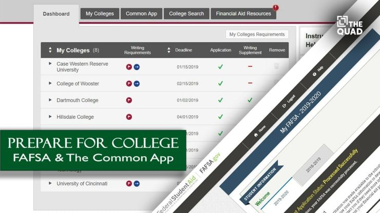 Prepare for College — FAFSA & The Common App College