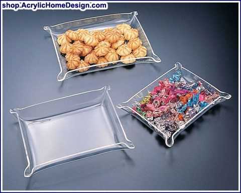 Acrylic Serving Bowls & Trays - Acrylic Home Design | Acrylic ...
