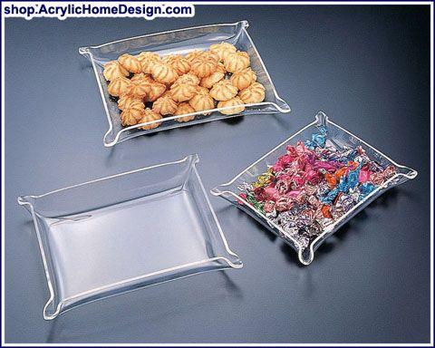 Acrylic Serving Bowls & Trays - Acrylic Home Design | Acrylic ...