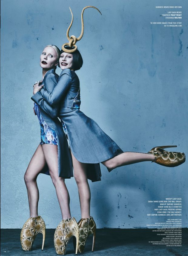 Daphne Guiness and Lady Gaga <3 Photo: Steven Klein for 'V'