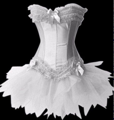 white bridal wedding corset tutu skirt bustier usa