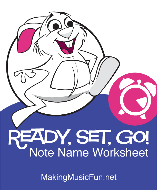 Ready, set, go! Note name speed test | print and download free.