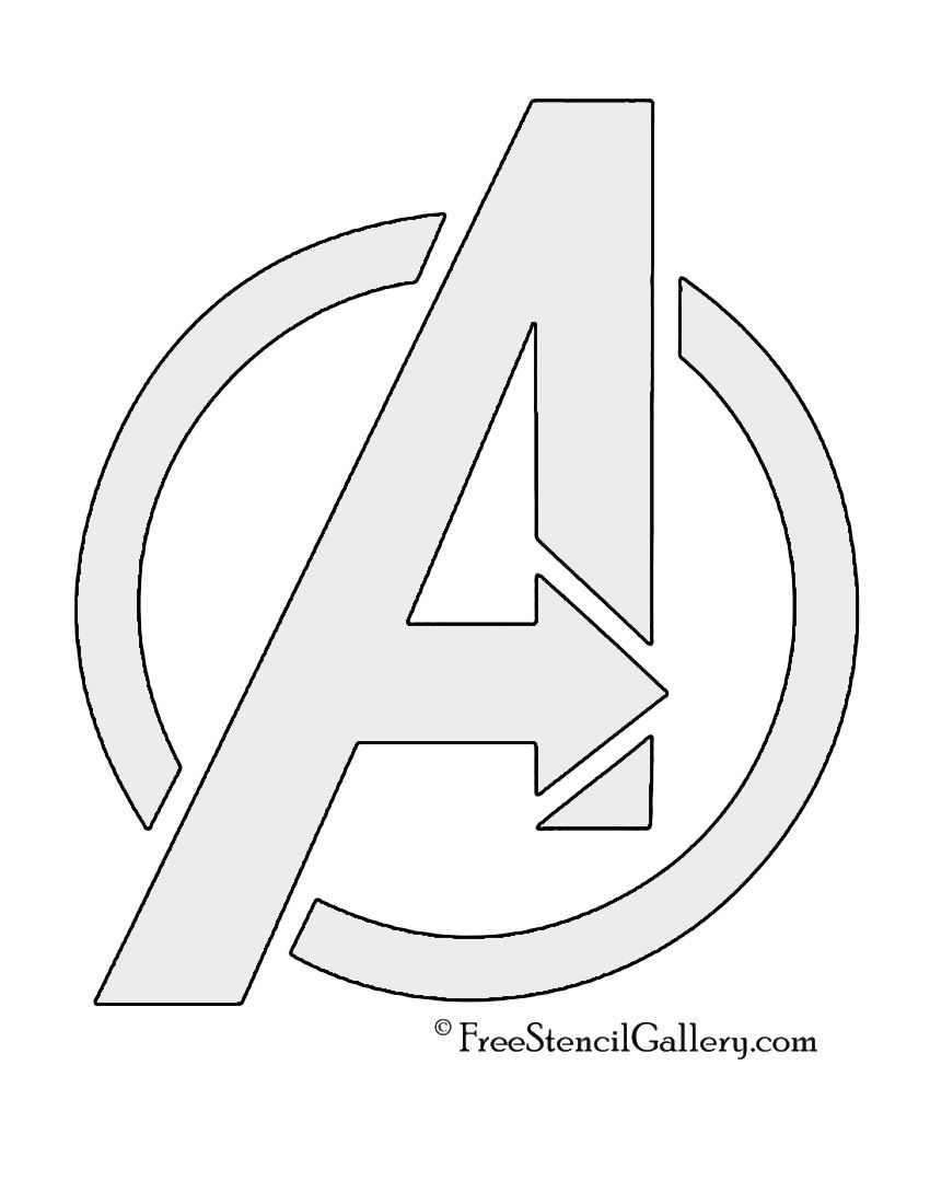 Avengers Logo Stencil | Party! | Pinterest | Stenciling, Logos and ...