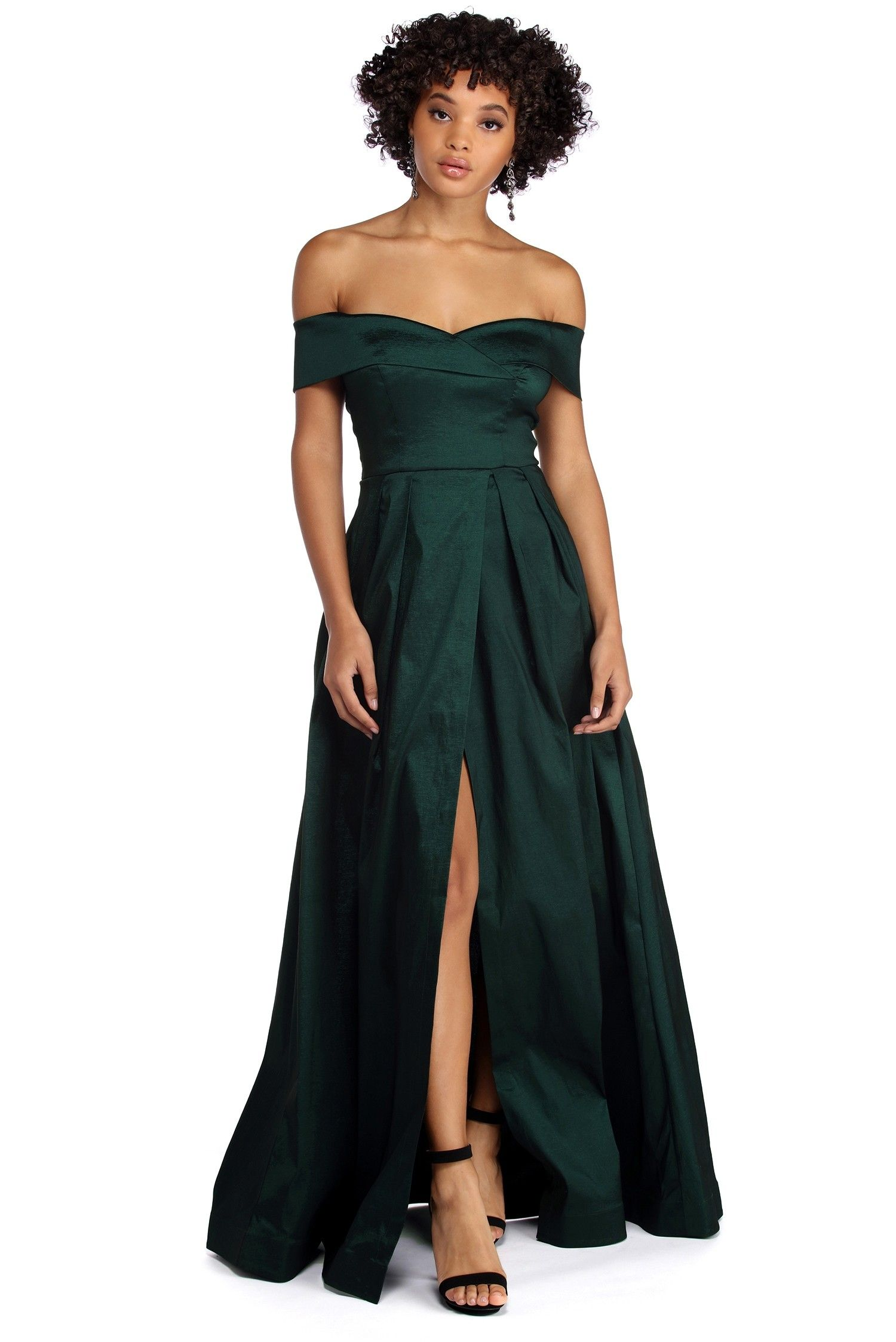 Maci off the shoulder taffeta ball gown s t y l e pinterest