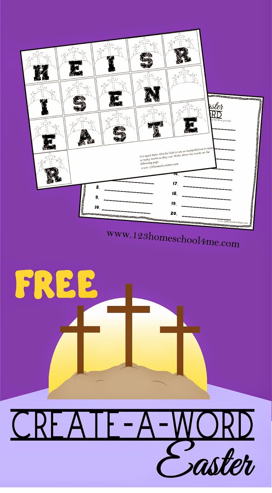 Easter Create A Word - this free printable Easter spelling activity ...