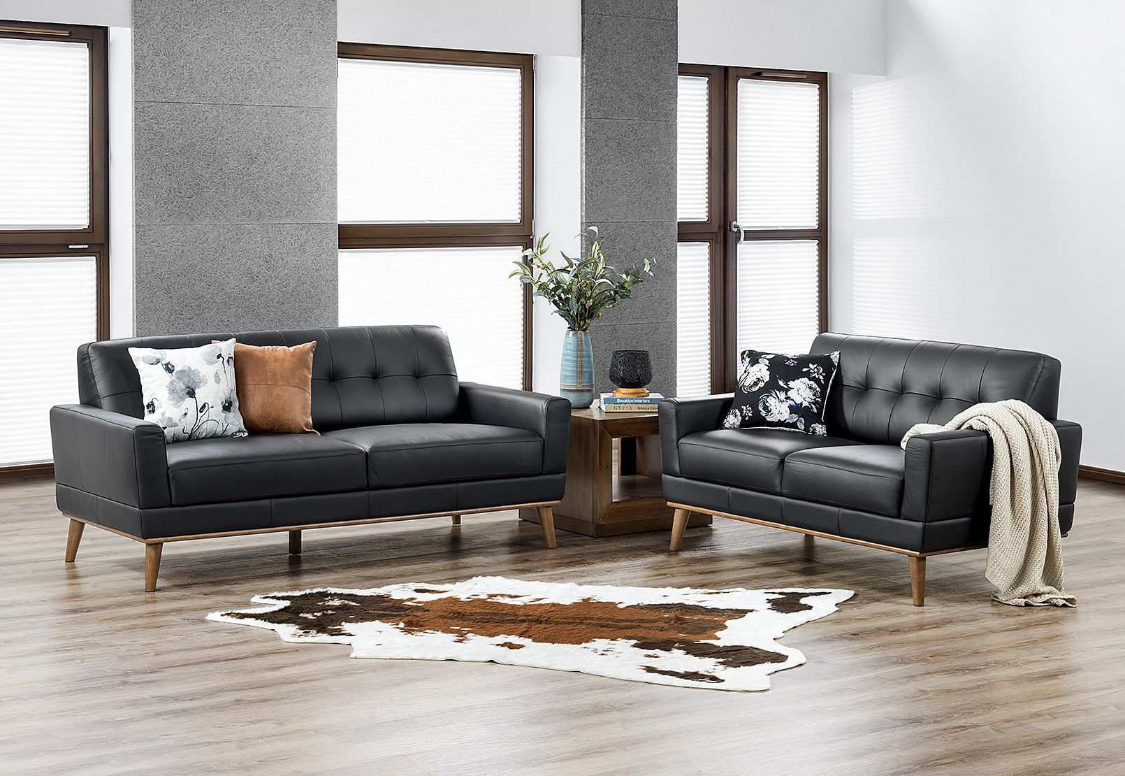 Amazing Marcello Leather Sofa Pair Amart Furniture For Our Home Ibusinesslaw Wood Chair Design Ideas Ibusinesslaworg