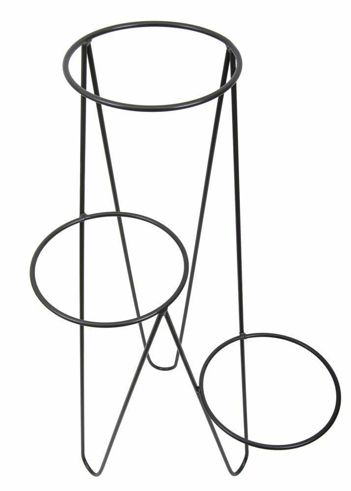 Potrojny Kwietnik Qubuss Czarny 45x95x35 Cm Side Table Wardrobe Rack Home Decor