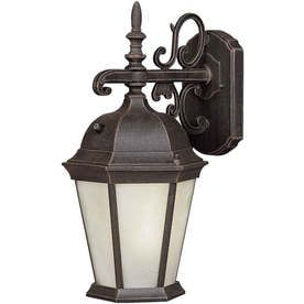 19-In H Painted Rust Outdoor Wall Light Lw170130128