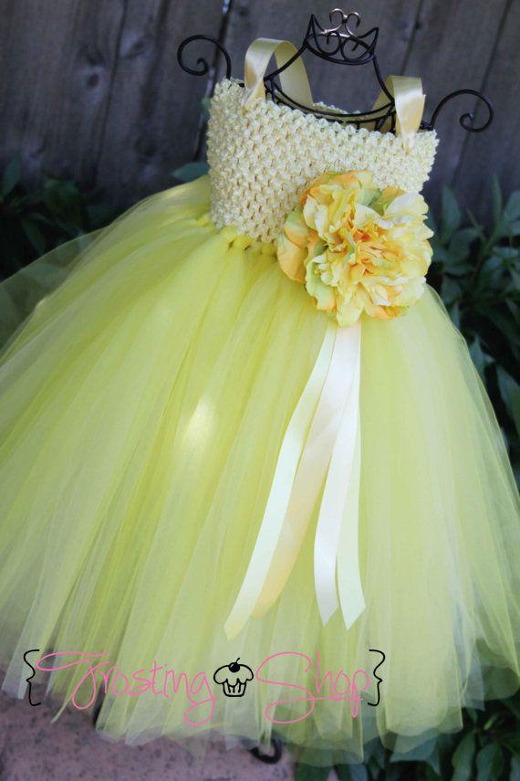 c13f2713d Lemon Meringue Tutu Dress- Yellow flower girl, wedding. $70.00, via Etsy.